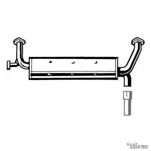 Exhaust injectiemotor to replace stock muffler
