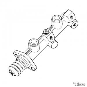 Master brake cylinder, without servo