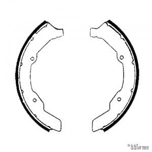 Brake shoes front Type2 63-70