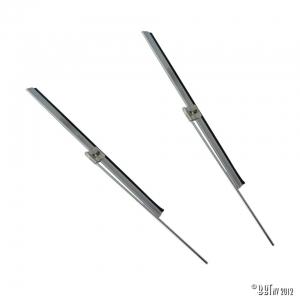 Wiper blade + arm, pair