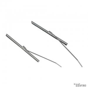 Wiper blade + arm, grey, pair, 18.50cm