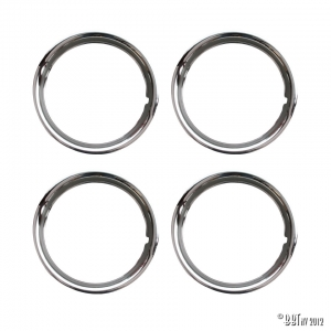 Outside, chrome wheel ring 14 inch, S/S