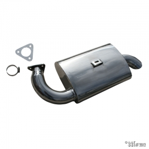 Exhaust muffler Fatboy for #3270 Polished S/S