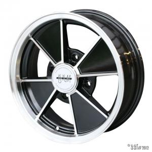 BRM wheel, aluminium/black 15 x 5 4 lug (4x130) ET +15