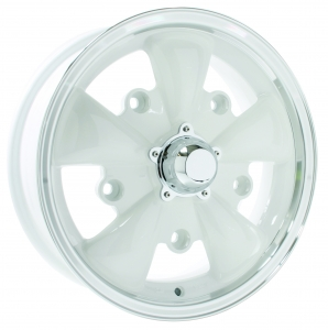 Wheel, SSP GT 5 Spoke, White/Polish Lip 5/205 5.5