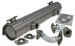 Exhaust Type 1 'Vintage Speed Classic Look'  with pre-heat risers / Stainless steel