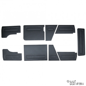 Door panel set black (9pcs)